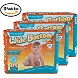 CaRears Wide Bottom Diapers Size 3W- Intro 3 pack box