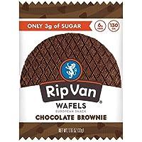 Rip Van Wafels Chocolate Brownie Stroopwafels - Healthy Snacks - Non GMO Snack - Keto Friendly - Office Snacks - Low Sugar (3g) - Low Calorie Snack - 12 Pack