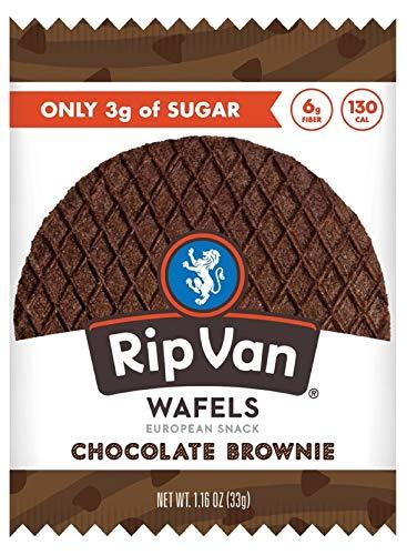 Rip Van Wafels Chocolate Brownie Stroopwafels - Healthy Snacks - Non GMO Snack - Keto Friendly - Office Snacks - Low Sugar (3g) - Low Calorie Snack - 12 Pack 1