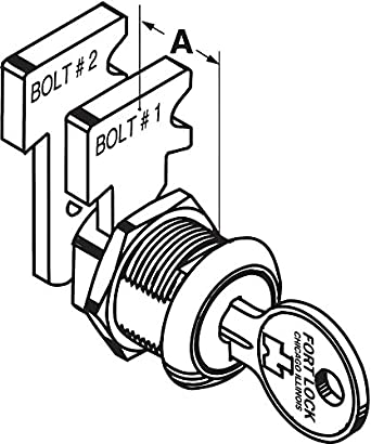 Drawer Dead Bolt Key 217 Stainless Steel Industrial Lockout