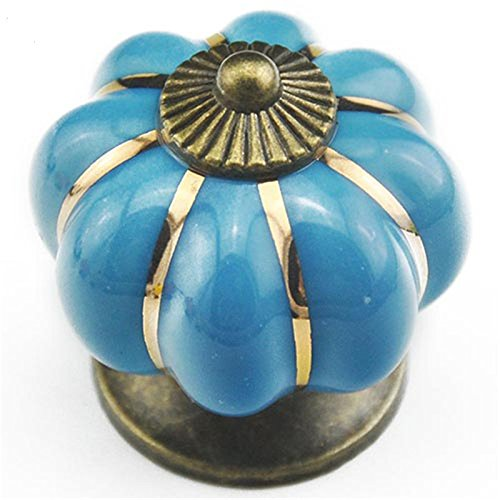 4Knobs Ceramic Oriental Turquoise Knobs Vintage Cabinet Restauracion Furniture Comoda Cupboards Drawers from Open Buy