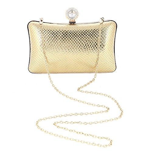 Metalic Damara Damara Wedding Black Womens Womens Party Bag Hardcase Texture rv55Iq