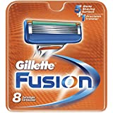 "Gillette FUSION Razor Blades (8 Count Pack, Refill Manual Cartridges) NEW by ""Blades, Razor"""