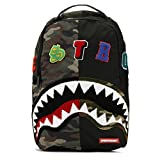 Sprayground Camo Destroy Shark Backpack