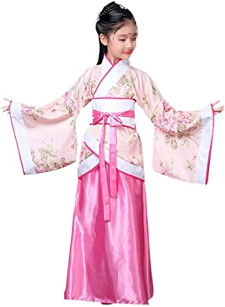 Amazon Com Lazutom Girls Ancient Chinese Traditional Hanfu Dress Fancy Dress Christmas Party Dress Clothing