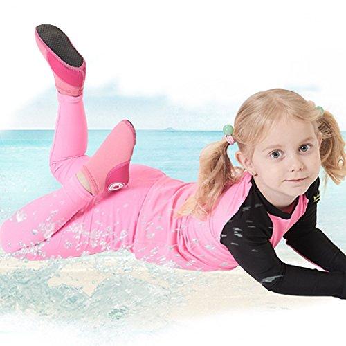 Sibba Unisex Pelle D'acqua A Piedi Nudi Aqua Scarpe Quick Dry Beach Swim Surf Yoga Scarpe Da Ginnastica Per Donna Uomo E Bambino Rosa-bambina