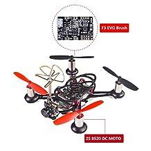 SunFounder BEE-100S 100mm Micro FPV Racing Quadcopter Drone 600TVL 5.8G 40CH 25mW Camera 2S 8520 DC MOTOR F3 EVO Brush Flight Controller Carbon Fiber Frame Kit Cleanflight Betaflight
