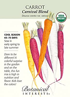 Organic Carnival Blend Carrot Seeds - 700 mg