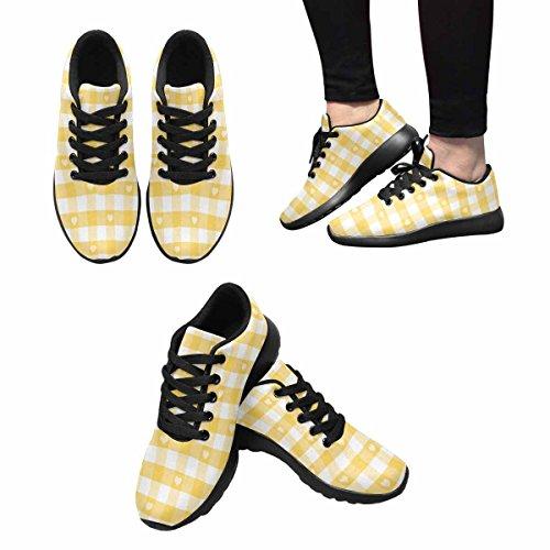 Interestprint Mujeres Running Running Sneaker Ligero Go Easy Walking Confort Deportes Zapatillas De Deporte Patrón En Forma De Corazón Multi 1