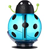 Swizze Beatles Cool Mist Humidifier, 260ml Home Car Aroma Ultrasonic USB Portable Air Diffuser Purifier Atomizer with LED Light, ,Cartoon Design Creative (Blue)