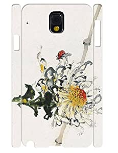 Custom Girly Flowers Anti Shock Phone Slim Skin Case for Samsung Galaxy Note 3 N9005