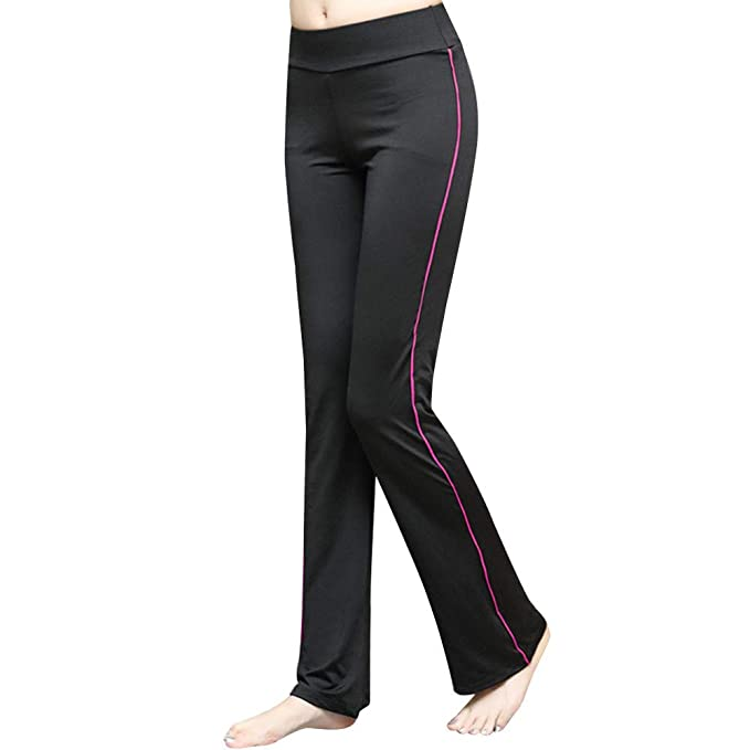Amazon.com: UROSA Womens Fashion Straight Fitness Yoga Pants ...