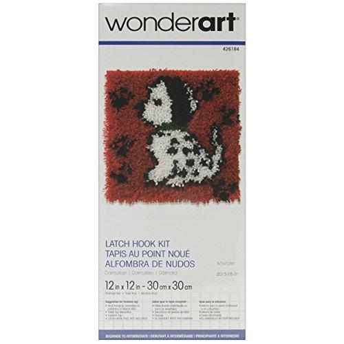 UPC 057355370098, Spinrite Wonderart Latch Hook Kit, 12 by 12-Inch, Dalmatian