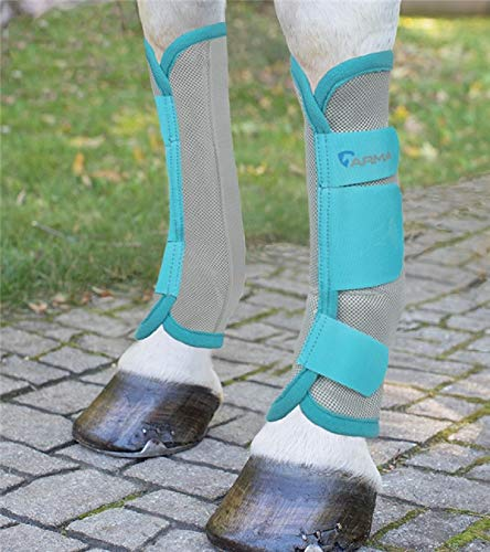 ARMA Products Turquoise Grey COB 4 Pack Airflow Fabrics Lightweight Fleece Fly Boots