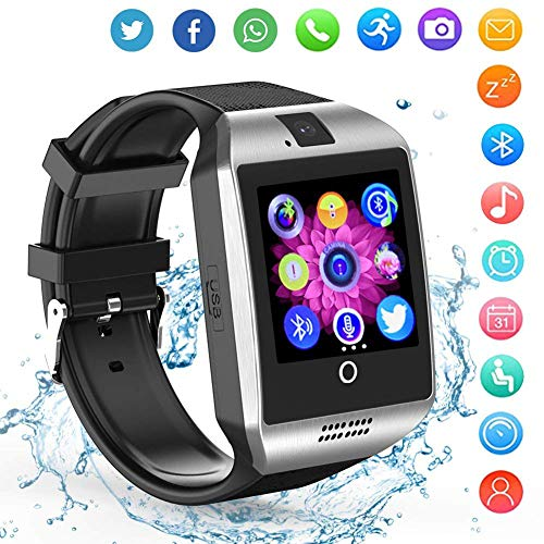 Phone Watch Camera Cell (Smart Watch Android Phones - Bluetooth Watch Cell Phone Audio Image Camera - SIM Card Slot Smartwatch Touchscreen Men Women)