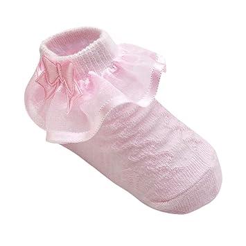 1e57d481817aa EXIU Bébé fille Anti-dérapant Socquettes Adhérence Chausson Berceau  Chaussettes