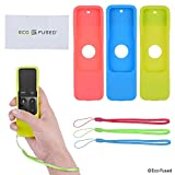 Apple TV Remote Control Cover Case with Wrist Strap - 3 Pack (Blue Green Red) - 4th Gen - Protective Silicone Shield - Shock Absorbing