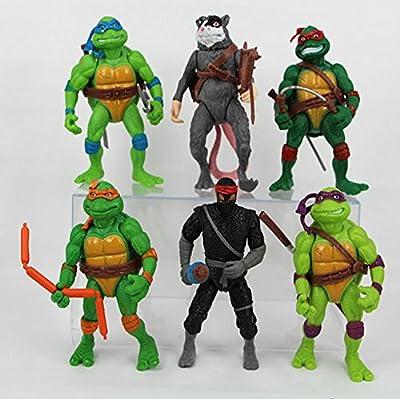 Mr Bigz 6 pc Teenage Mutant Ninja Turtles Action Figures Collectible Figurines TMNT