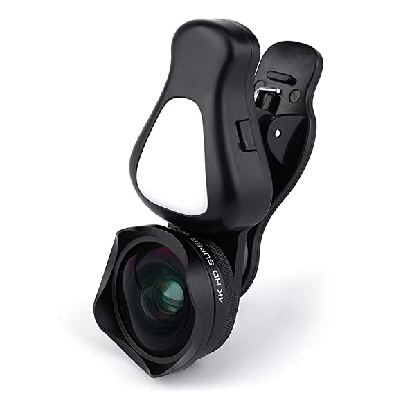 2dff3d956f7 Amazon.com  4K HD Wide Angle Lens and 15X HD Macro Lens Clip-On Cell Phone  Camera Lenses with Two Level Camera Fill Light for Mobile Phones and  Tablets  ...