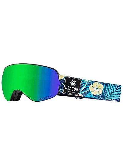 9799845f37a Amazon.com  Dragon Alliance X2S Goggles - Aloha Lumalens Green Ion+ ...