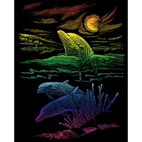 - ROYAL BRUSH Rainbow Foil Engraving Art Kit, 8-Inch by 10-Inch, Dolphin Reef
