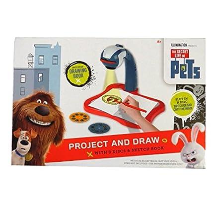 Amazon.com: Vida secreta de mascotas – Proyector y dibujar ...