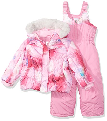 ZeroXposur Toddler Girls' Marlowe Snowsuit, Petal, 4T