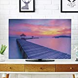 Best Romantic Time TV Trays - iPrint LCD TV dust Cover Strong Durability,Beach,Dreamy Seascape Review