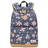 Vintage Canvas Women Backpack School Bags Schoolbag For Teenagers Girls Flo ....