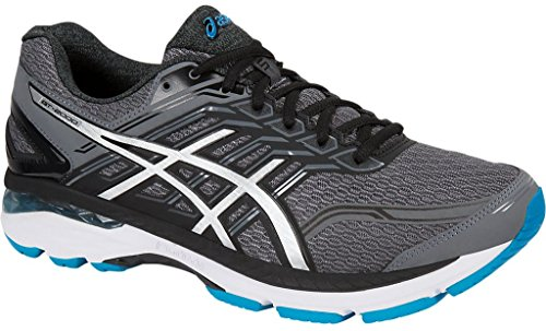 ASICS Men's GT-2000 5 Running Shoe, Carbon/Silver/Island Blue, 11.5 M US