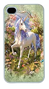 IPhone 4S Cases Unicorn Forest Polycarbonate Hard Case Back Cover for iPhone 4/4S White