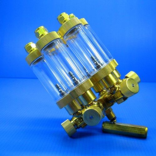 6 way Brass CO2 splitter +Bubble Counter & CHECK VALVE by Aquarium Equip