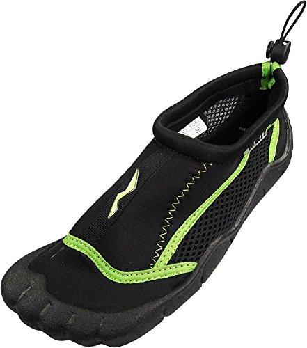 NORTY - Toddler Boys Skeletoe Mesh Waterproof Athletic Aqua Socks for Pool Beach, Black, Lime 39878-6MUSToddler from NORTY