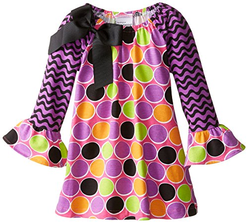 Flap Happy Baby Girls' Lily Dress With Long Sleeves, Sugar Dots, 12 Months