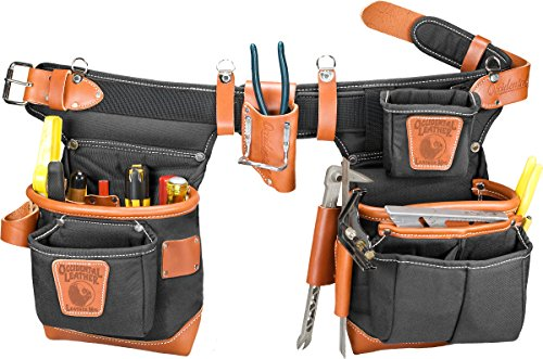 Occidental Leather 9850LH Adjust-to-Fit Fat Lip Tool Bag Set - Black - Left
