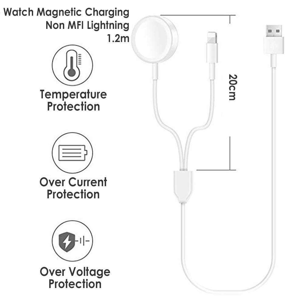 USB-A to Non MFI Lightning and Apple Watch Magnetic Charging
