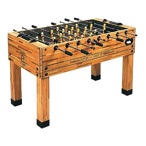 Amazoncom Imperial Premier Butcher Block Foosball Table Sports - Premier soccer foosball table