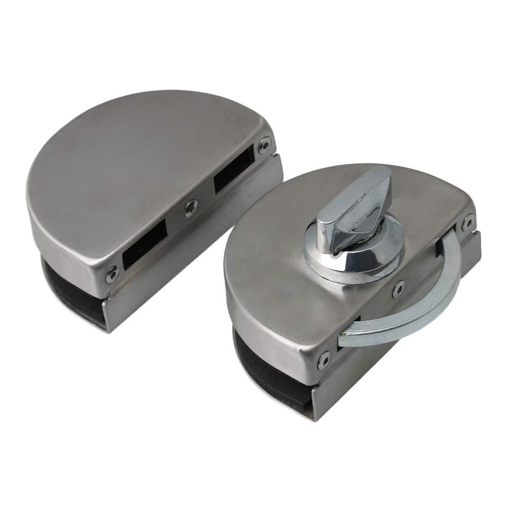 Cerradura de puerta de cristal de acero inoxidable con doble perno de 10 a 12 mm Mxfans