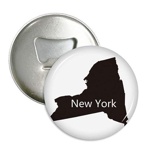 Nueva York Estados unidos mapa de silueta redondo abridor de ...