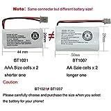 Geilienergy BT-1021 BBTG0798001 for Uniden BT-1021 BT1021 BT-1008 BT-1016 Cordless Handset Phone Rechargeable Battery (4-Pack)