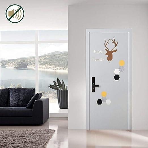 SODKK Etiqueta de Puerta Autoadhesiva Absorcion Aislamiento Acustica Paneles Mantener Caliente A Prueba de Viento Extraíble para la Puertas Interior del Dormitorio Murales (5mm Espesor): Amazon.es: Hogar