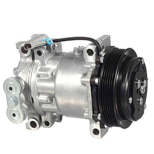 AUTEX AC Compressor and A/C Clutch CO 4440C 1136519 Replacement for GMC C1500 Pickup & Chevrolet 1996 1997 1998 1999/Chevrolet Tahoe 1996 1997 1998 1999 2000/Oldsmobile Bravada 1996 1997 -