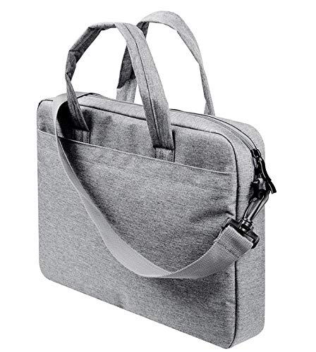 ulder Bag Multi-Functional Laptop Sleeve Bag Case with Carrying Strap Compatible 11.6-13.3 Inch MacBook Air Pro Ultrabook ThinkPad T-Series|X1 Carbon Yoga Surface- Light Gray ()
