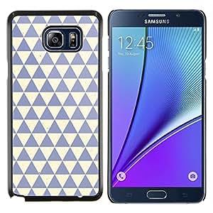 TECHCASE---Cubierta de la caja de protección para la piel dura ** Samsung Galaxy Note 5 ** --patrón de polígono de color beige azul limpio