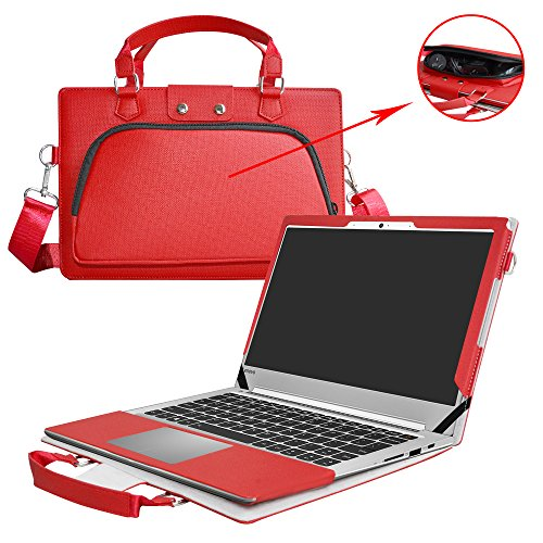 Ideapad 710s Case,2 in 1 Accurately Designed Protective PU Leather Cover + Portable Carrying Bag for 13.3