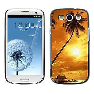Paccase / SLIM PC / Aliminium Casa Carcasa Funda Case Cover - Sunset coconut Beautiful Nature 122 - Samsung Galaxy S3 I9300