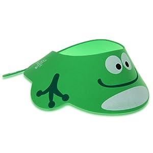 FACILLA® Visière Casquette Bonnet de Bain Douche Shampoing Vert pour Bébés Enfants