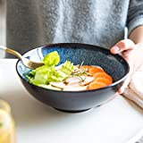 Noodles Bowl Oat Soup Bowl Ramen Bowl Japanese Style Pasta Plate Tray Blue 7in