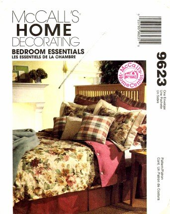 McCall\'s 9623 Home Decorating Sewing Pattern Bedroom Duvet Cover Bed ...