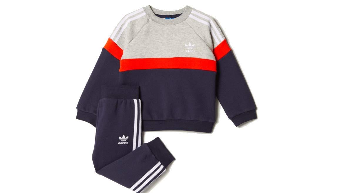 adidas Originals Boys' Trefoil Track Suit (9M)